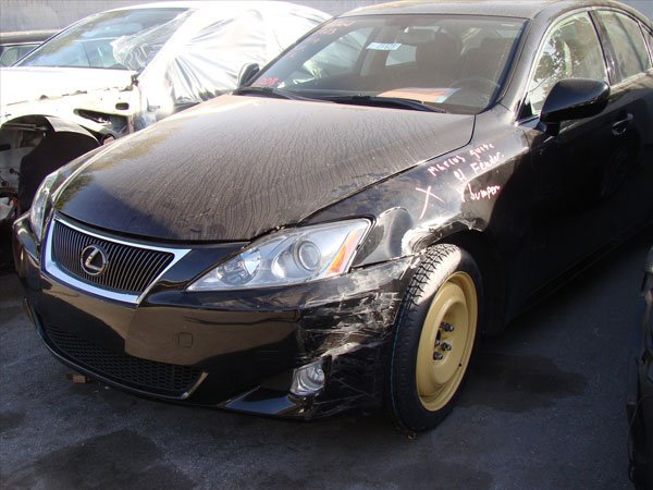 front damage on a lexus