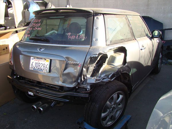 mini cooper damaged