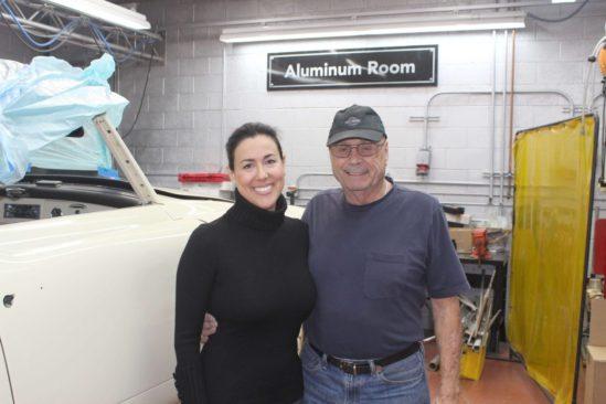 aluminum room at Precision Auto Body, Reseda, CA